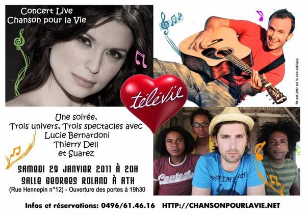 Image - Concert Télévie avec Lucie Bernardoni, Thierry Dell, Suarez - Scoops tous azimuts !!!