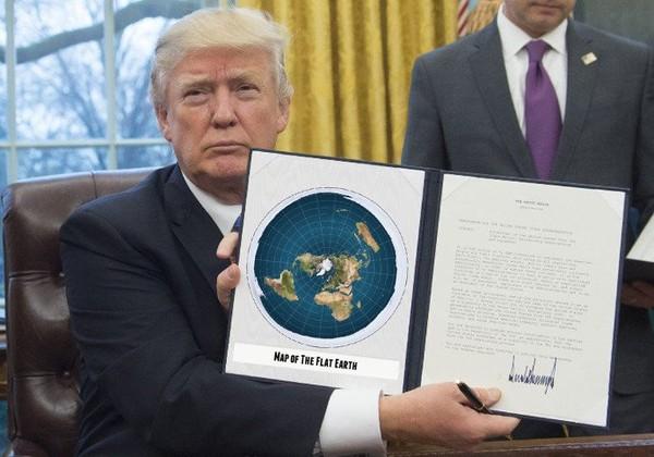 Etats-Unis : Trump signe un décret décidant que la Terre est plate