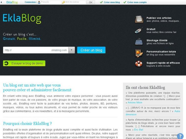 Créer un blog gratuitement - EklaBlog | Mag90Recherche