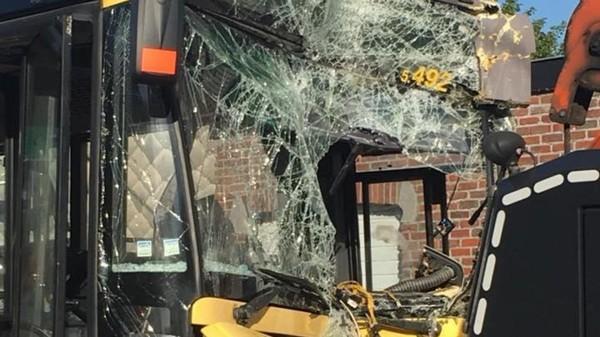 Montegnée : un bus fonce dans une façade (sept blessés)