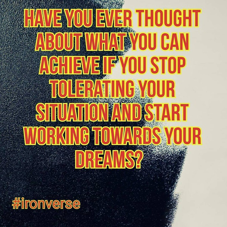 """Dirk O'Kennedy on Instagram: """"Have you ever thought about what you can achieve if you stop tolerating your situation and start working towards your dreams? #attention…"""""""