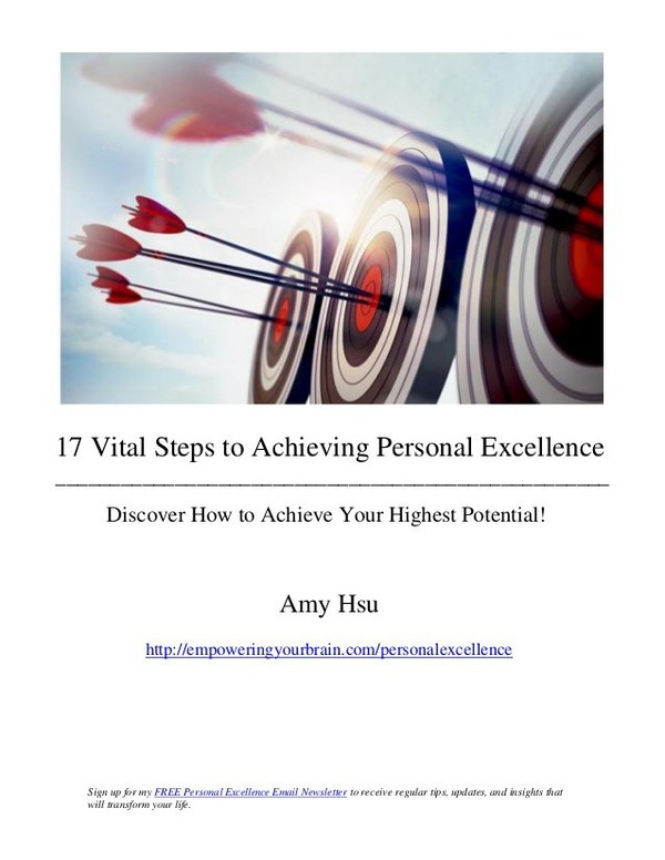 17 Vital Steps to Achieving Personal Excellence