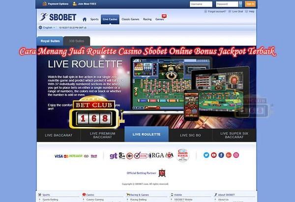 Cara Menang Judi Roulette Casino Sbobet Online Bonus Jackpot Terbaik