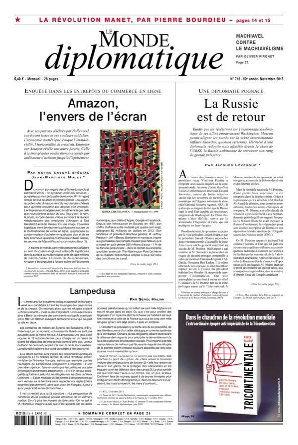 Le traité transatlantique, un typhon qui menace les Européens, par Lori M. Wallach (Le Monde diplomatique)