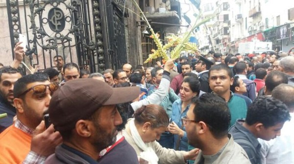 In Pictures: Explosion at Saint Mark's Church in Alexandria  - Daily News Egypt