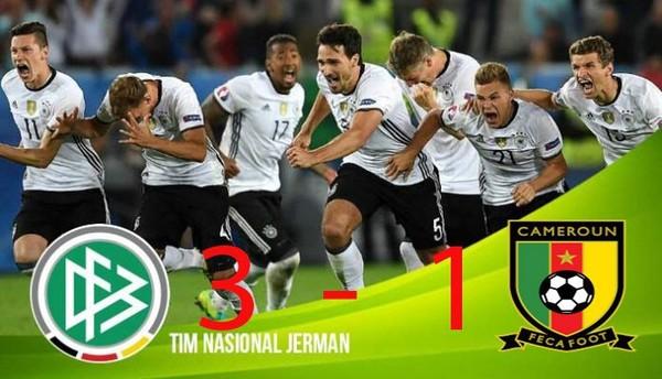 Hasil Piala Konfederasi, Jerman Lolos Sebagai Juara Grup Disusul Chile Runner Grup