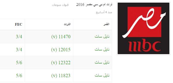 تردد قناة ام بي سي مصر Mbc Masr 1 2 2016 Mrsraa S Blog