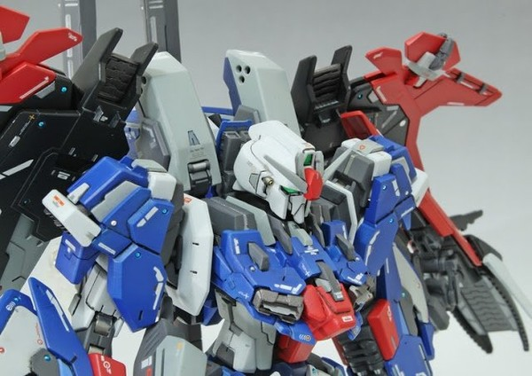 HGBF 1/144 MSZ-006LGT [Ex] Lighting Ex-Z Gundam - Custom Built Gunpla Kitbash - Superior Hobby Complex