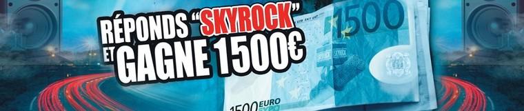 Je viens de m'inscrire pour gagner 1500€ dans le #MorningDeDifool #skyrock ! Viens tenter ta chance sur