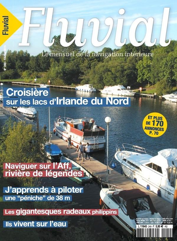 Revue Fluvial Vient de paraître Fluvial 249 - Le numéro de février est en kiosque