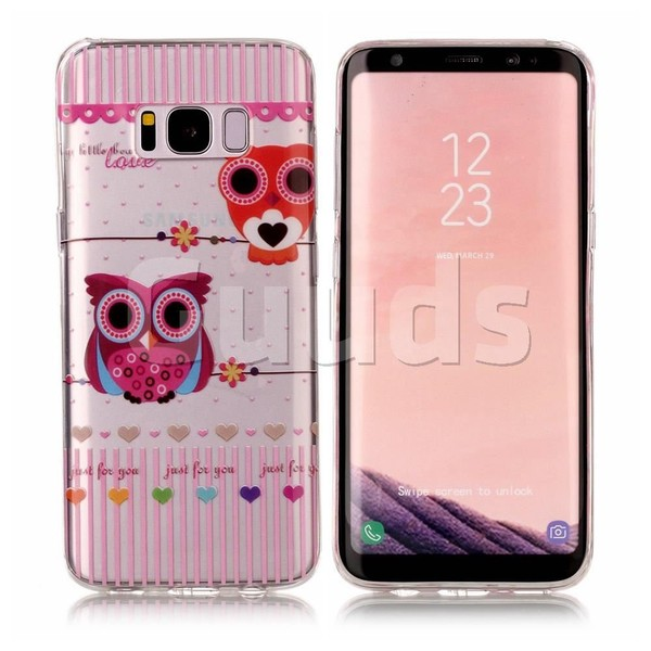 Owls Flower Super Clear Soft TPU Back Cover for Samsung Galaxy S8 - TPU Case - Guuds