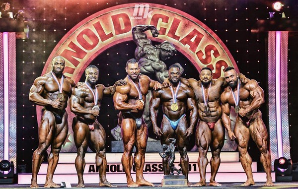 """Brandon Curry on Instagram: """"Congratulations to all my brothers in iron. It was fun doing battle with you all on stage! 🙏🏿💪🏿 @abdullah_84otb @bader_boodai @bleaver808…"""""""