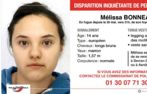 Yvelines: Appel à témoins après la disparition d'une adolescente de 14 ans