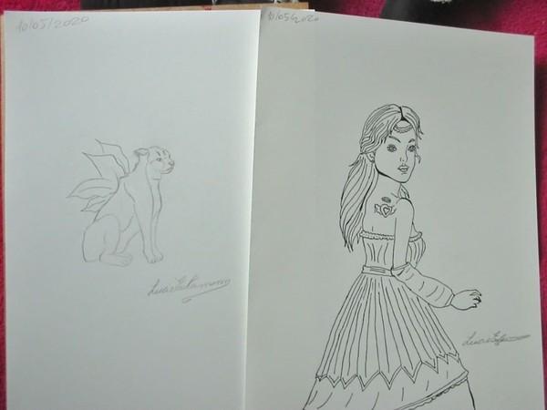 "Dessin de Lucie Estermann on Instagram: ""#drawing #croquis #croqui #illustration #illustrator #woman #femme #chat #cat #lucieestermann #2020 #art #dessin #dessins #pencildrawing…"""