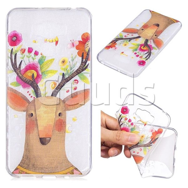 Balloon Flower Deer Super Clear Soft TPU Back Cover for Asus Zenfone 3 Max ZC553KL - TPU Case - Guuds