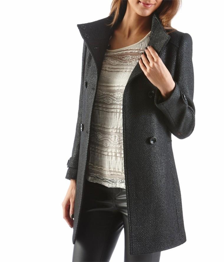 pas cher pour réduction 46733 6ca0c Manteau femme en lainage enduit Camaïeu - Tendance Mode Femme