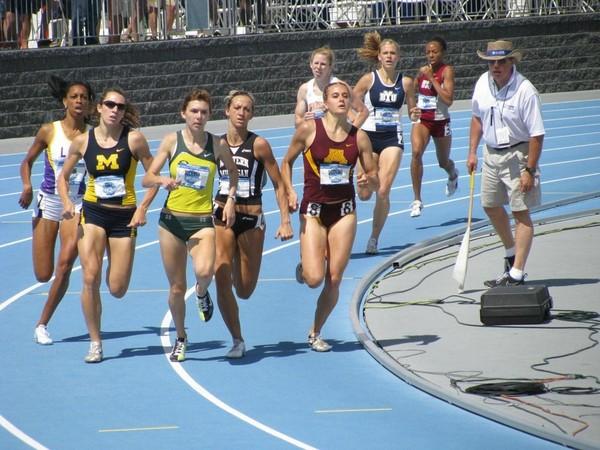 Regardez l'action inouïe de cette sprinteuse