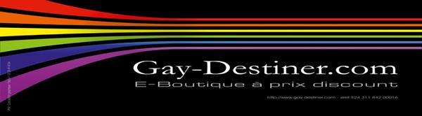 Gay-Destiner - Vente de produits gay à prix discount