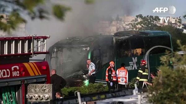 L'explosion dans un bus à Jérusalem est due à une bombe