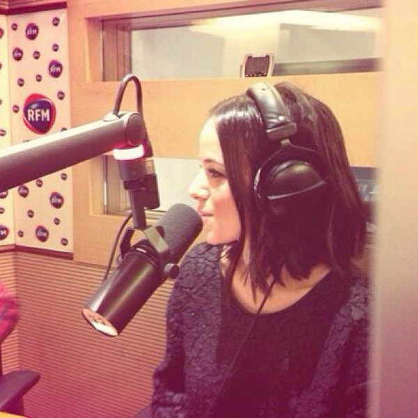 .@alizeeofficiel | Merci au morning d'RFM ! ️ #alizee