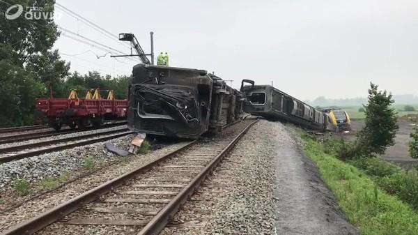 Accident de train à Neufvilles - 10/06/2018