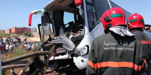 Neuf morts et 45 blessés dans un accident de la circulation à Sidi Kacem