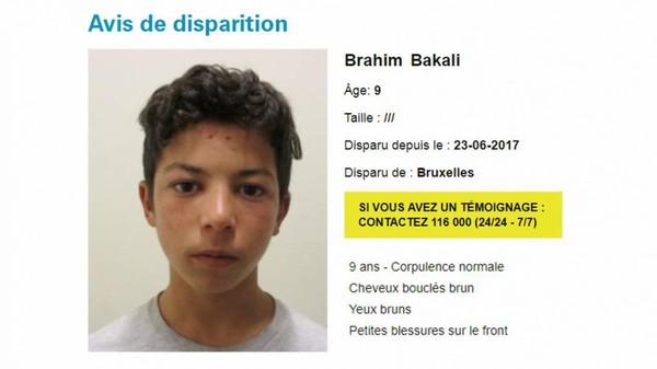 Avis de recherche pour un garçon de neuf ans, mineur non accompagné...