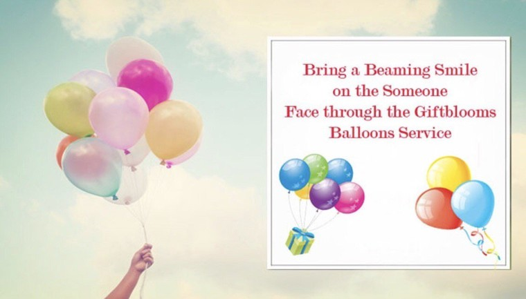 Lighten up and bring a beaming smile on the face through Balloons!