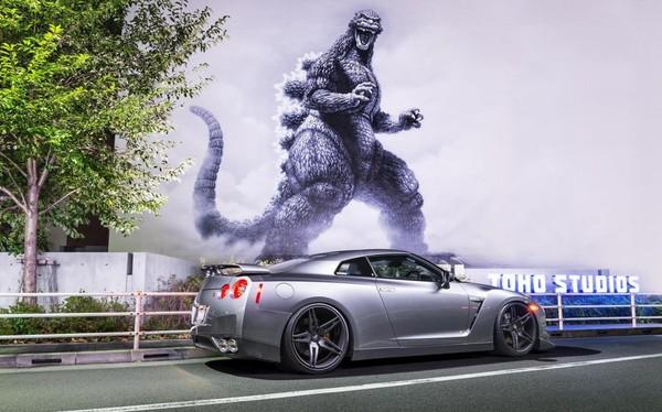 The performance car Nissan Skyline GT-R nicknamed 'Godzilla'