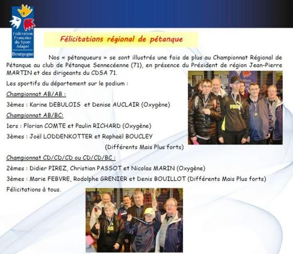 COMMISSION SPORT HANDICAP PETANQUE COMITE DE SAÔNE-ET-LOIRE