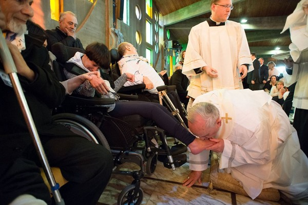 MSN News: Pope Francis washed and kissed the feet of...