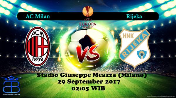 Prediksi Milan VS Rijeka 29 September 2017   Airbet88  