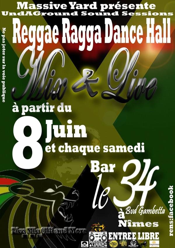 Reggaefrance.com / Agenda sound systems reggae : Mix & Live W**D Massive Yard Sound - Nîmes