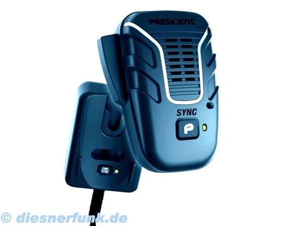 President Liberty Mic - drahtloses Mikrofon für Stabo President CB FUNK m. 6Pol
