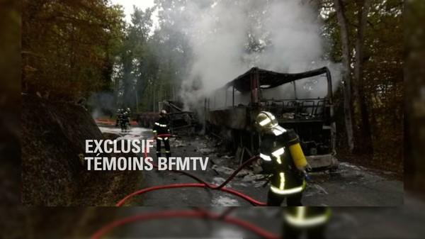 EN DIRECT - Collision mortelle à Puisseguin: survol de la zone de l'accident par l'hélicoptère BFMTV
