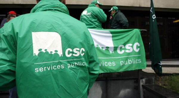 Fonction publique à l'arrêt : piquets de grève partout à Namur - RTBF Societe