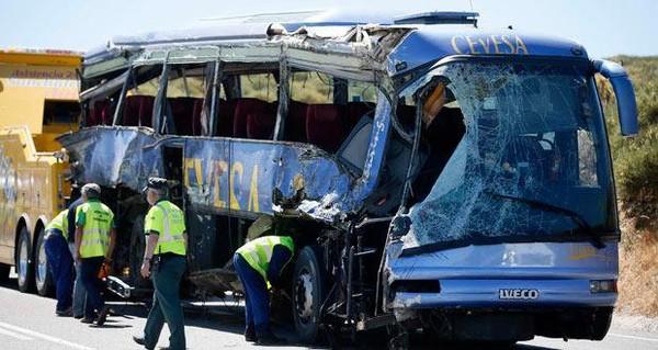Neuf morts dans un accident de car au centre de l'Espagne | lexpress.mu