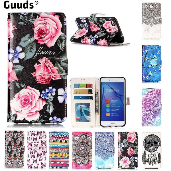Aliexpress.com : Buy For Huawei P8Lite 2017 Cover Rose Flower 3D Relief Oil PU Leather Wallet Case for Huawei P8 Lite 2017 / P9 Honor 8 Nova Lite from Reliable leather wallet case suppliers on GUUD...