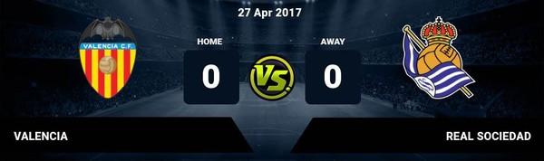 Prediksi Valencia vs Real Sociedad 27 April 2017
