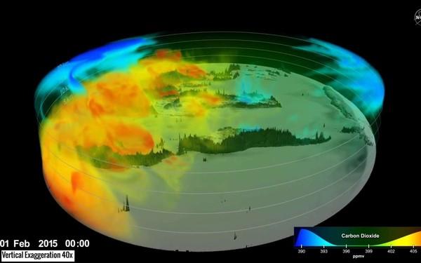 La circulation du CO2 dans l'atmosphère comme vous ne l'avez jamais vue