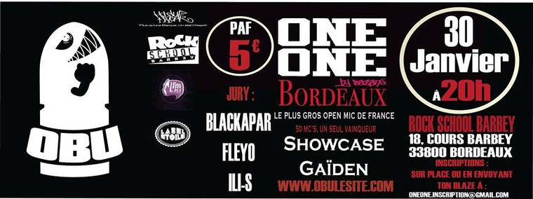 Battle MC ONE/ONE by Bazané Bordeaux Édition + Showcase GAÏDEN !!