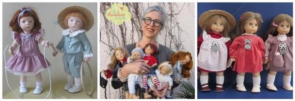 Les poupées Minouche de Sylvia Natterer, l'histoire d'une artiste extraordinaire