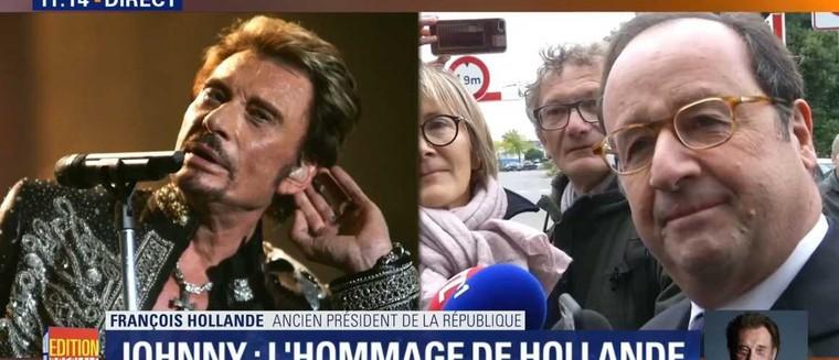 Mort de Johnny Hallyday : Ému, François Hollande évoque sa dernière rencontre avec la star (VIDEO) - actu - Télé 2 semaines