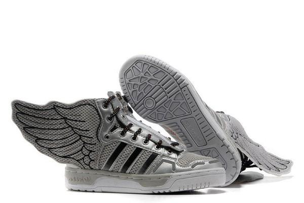 Jeremy Scott Wings 2.0 Womens Adidas Originals Shoes Metallic Silver ... 08ada96243