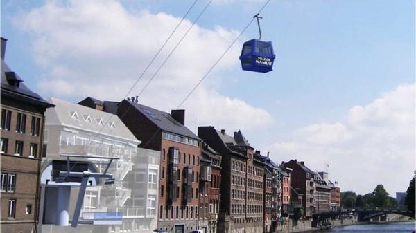 Un téléphérique reliera le vieux Namur à la Citadelle - RTBF Regions