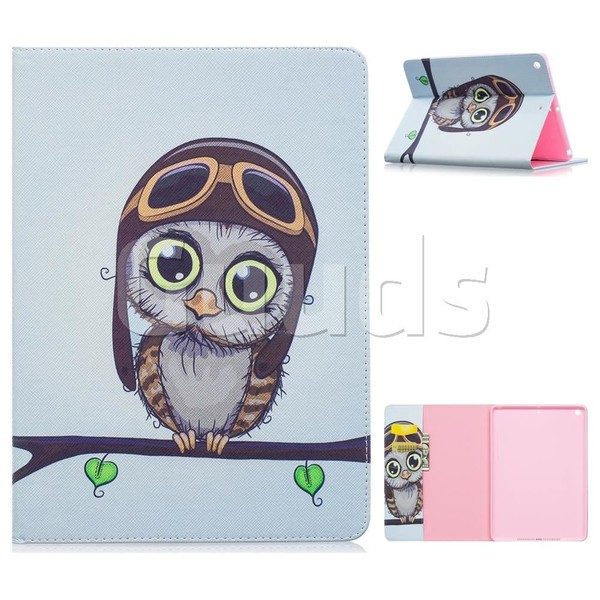 Owl Pilots Folio Stand Leather Wallet Case for iPad Pro 9.7 2017 9.7 inch - Leather Case - Guuds