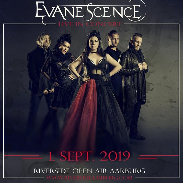 "Evanescence on Instagram: ""We are thrilled to perform at @riversideaarburg in Switzerland on September 1, 2019! Tickets available on www.riversideaarburg.com/tickets"""
