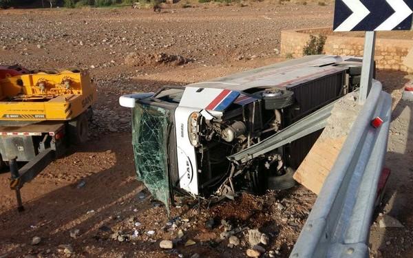 Trois morts dans l'accident d'un autocar à Mehdia