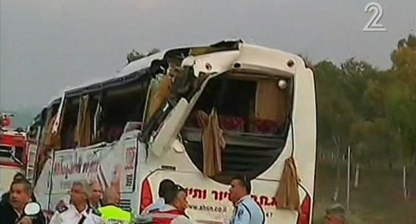 At least eight killed after truck hits bus in Israel's south