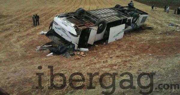 Ait Ouallal : 3 morts et 12 bléssées dans un accident d'autocar - IBERGAG